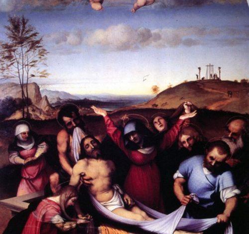 """""""Deposizione di Cristo nel sepolcro"""" di L. Lotto – Jesi"""