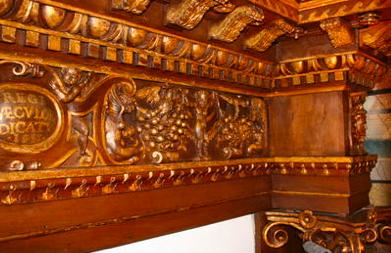 Alzata lignea II° Altare Chiesa di San Marco | Gubbio (PG)