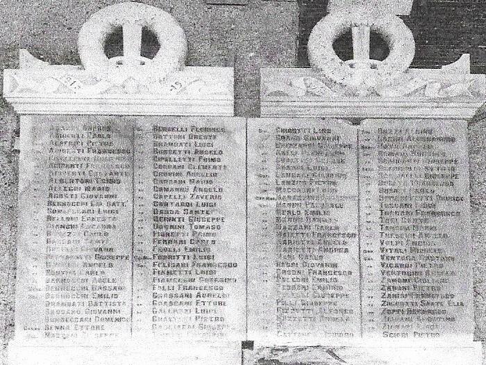 2 lapidi Caduti della 1^ Guerra Mondiale – Pizzighettone (CR)