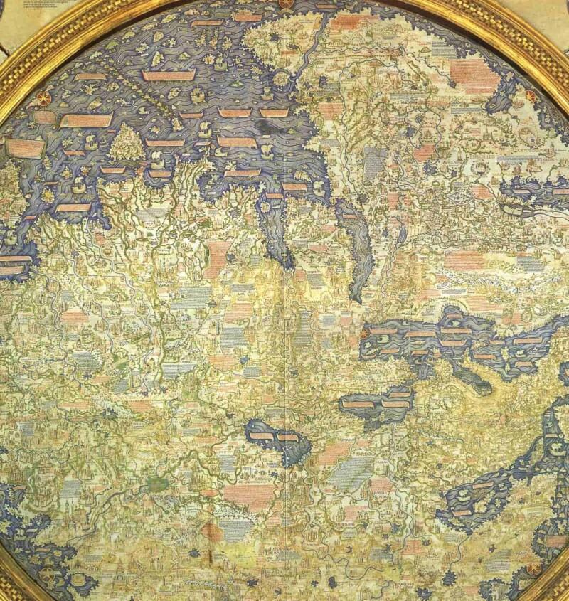 Mappamondo di Fra Mauro della Biblioteca Nazionale Marciana di Venezia