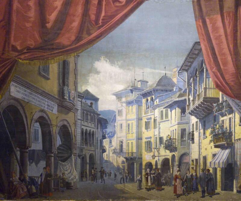 Sipario Storico del Teatro Gian Giacomo Galletti di Domodossola (VB)