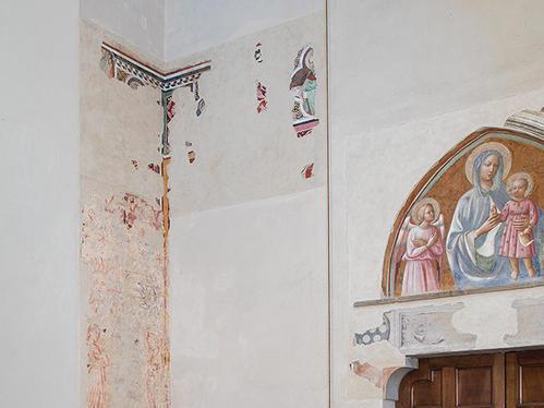 Frammento di affresco chiesa conventuale di Santo Stefano degli Agostiniani a Empoli  (FI)