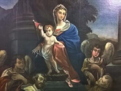 """Restauro Tela Raffigurante """"Madonna in Trono con Bambino e Santi"""" del Comune di Cagli (PU)"""